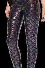 NEW Black Milk Museum LIMITED Medium Mermaid Holographic Leggings halloween fun