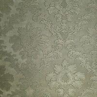 Vinyl brass bronze metallic textured Victorian damask Wallpaper faux silk fabric
