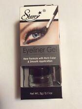 Starry Waterproof Smudge Proof GEL Eye Liner w/ Brush 'Black Asphalt' -0.11Oz