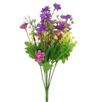 A Bundle Fake Cineraria Artificial Bouquet Home Office Decoration L7N3