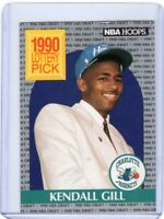 1990 NBA HOOPS BASKETBALL ROOKiE CARD # 394 - KENDALL GILL - CHARLOTTE HORNETS