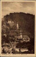 Berneck Fichtelgebirge Bayern s/w AK ~1925 gelaufen mit Kirche und Schloßturm