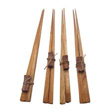 Mahogany Chopsticks With Stand (4 Pr)