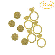 100pcs Gold Diamond Ring Confetti for Wedding Bridal Shower DIY Kits Decor