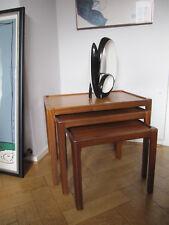 60s TEAK 3er Set Tavolino d'appoggio Sidetable Danish design moltiplica table