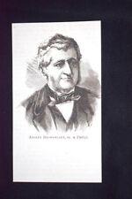 Il botanico francese Adolphe Théodore Brongniart,morto a Parigi-18 febbraio 1876