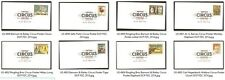 US 4898-4905 Vintage Circus Posters DCP (set of 8) FDC 2014