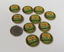 10 Bottoni Gufo in Legno per Cucito Card Making Scrapbook Craft Abbellimenti Forniture