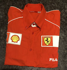 Official Ferrari formula 1 Long Sleeve Red Shirt With Sponser Badges XL