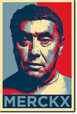 Eddy Merckx Arte Foto Print (Obama esperanza parodia) Poster Regalo Ciclismo