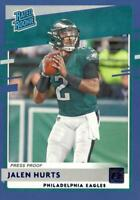2020 Donruss Blue Press Proof Rated Rookie Jalen Hurts #314 Eagles