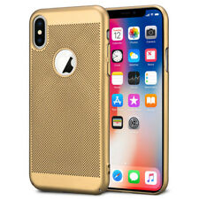 iPhone Xr Hoesje Goud Mesh Gaatjes Hardcase Case Cover