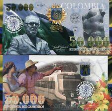 COLOMBIA EL DELA MONEDA MEDELLIN 50,000 CAFETOROS 2013 UNC