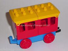 Lego Duplo Eisenbahn: Roter Personen-Waggon / Anhänger