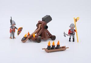Playmobil Ritter Katapult - Ritter Feuerschleuder mit Zubehör - Ritter Konvolut