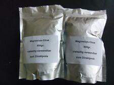Magnesiumcitrat-Pulver 2x 500g,Herstellung:Deutschland, Angbot gilt bis 27.07.18