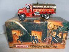 More details for matchbox diecast fire engine yfe11 1923 mack ac water tanker