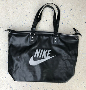 Ladies Nike Heritage Faux Leather Tote Bag Handbag Gym Holiday Sports Womens