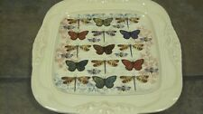 CRACKER BARREL ~ 'BIRDS AND BUTTERFLIES' DINNER PLATE, (6) AVAIL., EUC