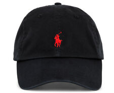100 Authentic Mens DESIGNER Polo Ralph Lauren Cap Black Adjustable Back
