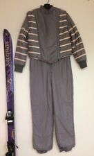 VTG‼ 1980s Gray & Pink Skimo Susie's SMALL 2 Pc Snow Ski Suit Snowsuit Skiwear
