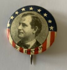 New listing William Jennings Bryan Flag Campaign Button Political Pinback Pin