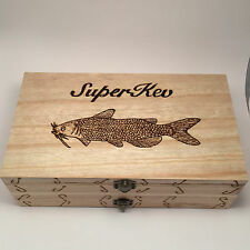 Double Fishing Float Box/Case Any Name Any Fish  Personalised