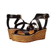 Ralph Lauren Collection Logan Espadrille Platform Wedge Sandal US 9M 39 NIB $495