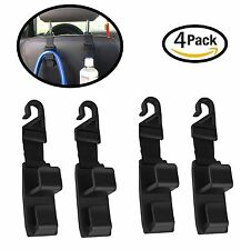 4 Pack Car Seat Headrest Hooks By Lebogner - Strong And Durable Backseat Head...