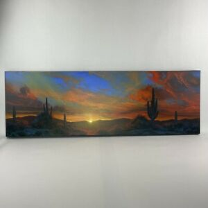 """Dale Terbush """"This is Our Moment to Shine"""" Oil Painting of Desert Sunset"""
