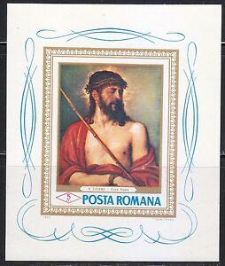 Romania 1968 MNH Sc 2006 Mi Block 65 Ecce Homo by Titian. Jesus Christ **