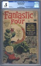Fantastic Four #1 CGC 0.5 1961 1st App of FF Original 100% Complete Looks Nicer