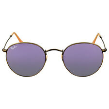 Ray-Ban Round Lilac Mirror Sunglasses RB3447 167/4K 50