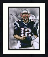 "Framed Tom Brady New England Patriots Autographed 16"" x 20"" Screaming Photograph"