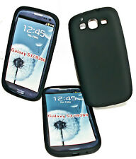 Silikon TPU Handy Cover Schwarz Samsung i9300 Galaxy S3 + Displayschutzfolie