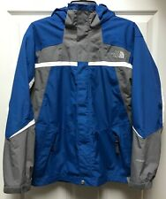 The North Face Boys Hyvent Hooded Blue Waterproof Coat Jacket size XL