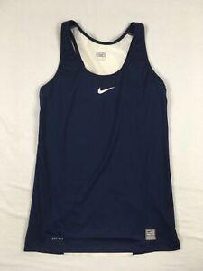 Nike Dri-Fit Sleeveless Shirt Women's Navy New without Tags