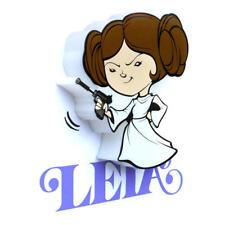 Mini 3D personaje Led aplique pared dormitorio infantil Iluminación minions Star Wars - princesa Leia 50015