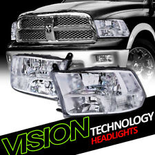 Quad Chrome Clear Headlight Parking Signal Lamps NB 09+ Dodge Ram 1500/2500/3500