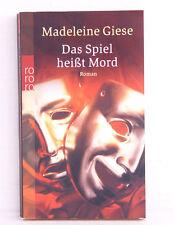 Das Spiel heißt Mord, Krimi von Madeleine Giese