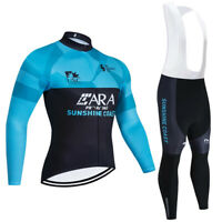 Men's Cycling Jersey Bib Pants Long Sleeve 3D Pad Bike Sports Ride Women Set