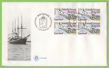Greenland 1996 Ships Figureheads set block on two First Day Covers