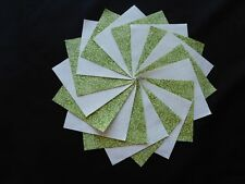 30 4x4 Green Quilt Fabric Squares~4066a