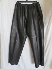 Bettoma Ladies 100% Soft Leather Pants Black Motorcycle lined straight leg Sz L
