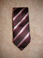Via Regina 100% Silk Tie Purple Pink Houndstooth Multi Made in Como Italy NEW