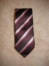 Via Regina 100% Silk Tie Purple Pink Houndstooth Multi Made in Como Italy NEW