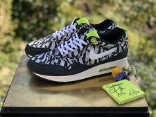 Nike Air Max 1 Liberty Black/White/Neon Uk9.5US12 Supreme Jordan OffWhite Virgil