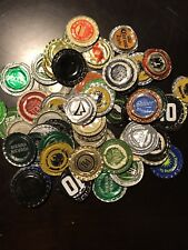 80 + Flattened Soda Beer Bottle Caps For Art Crafting Many Different Kinds
