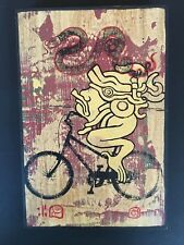 Vintage- Ravi Zupa Hand Painted Original # 12 On Wood Signed 1/1