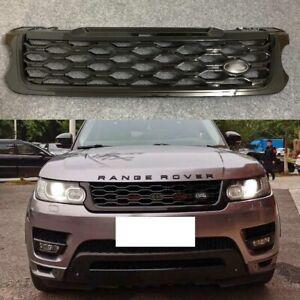 Front Bumper Upper Grille Grill Black For Range Rover Sport 2014-2017